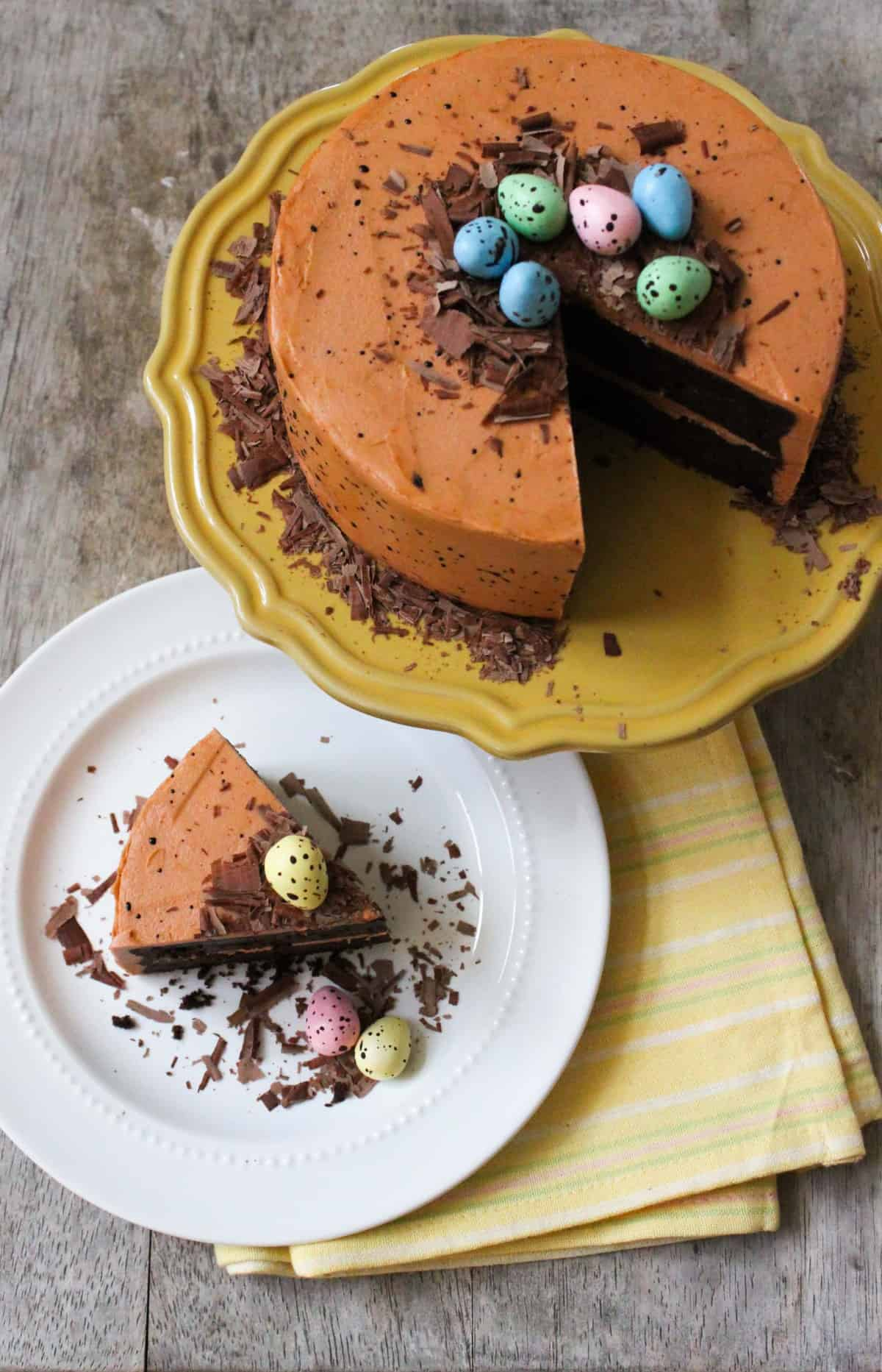 Speckled Egg Chocolate Cake The Little Epicurean