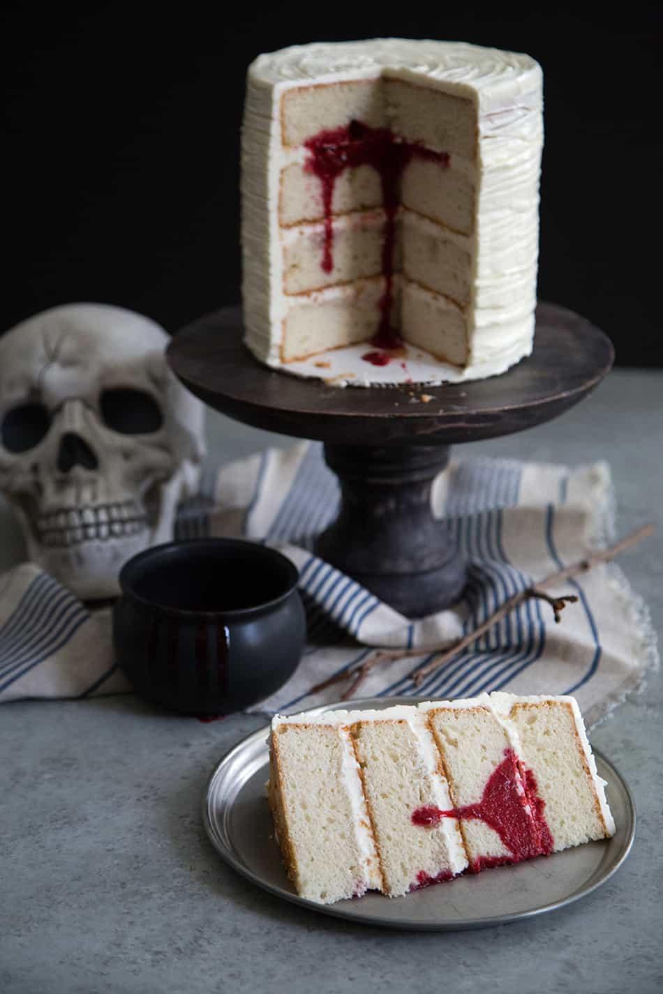 Surprise Bloody Cake Vanilla Cake Wtih Raspberry The