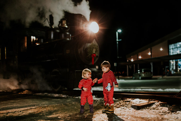 Our gang at The Polar Express | Portland Maine, Family ...