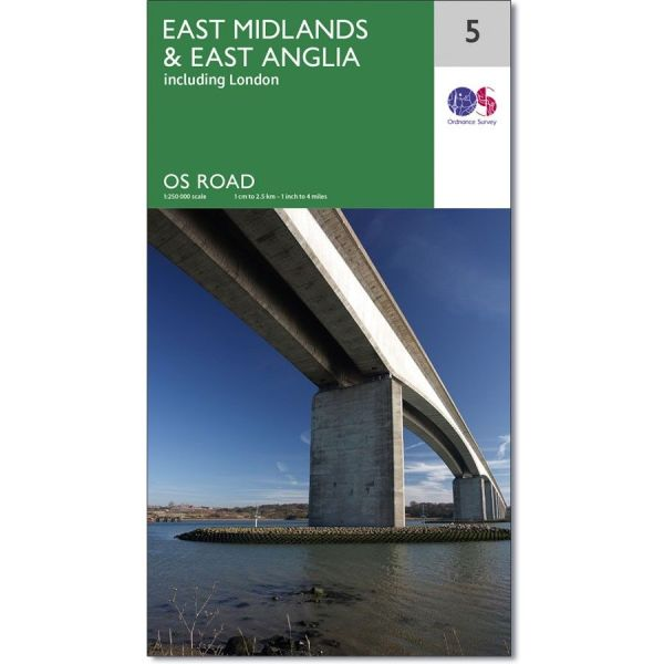 Ordnance Survey Road Map 5   East Midlands   East Anglia