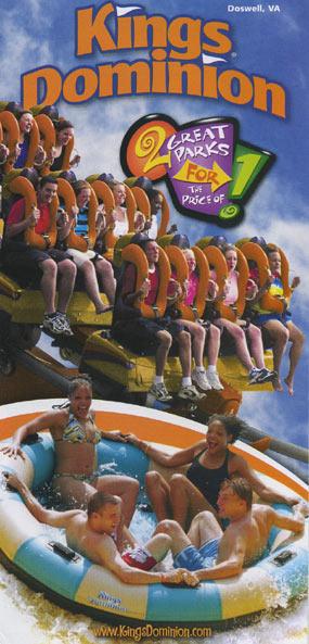 Theme Park Brochures Kings Dominion Theme Park Brochures