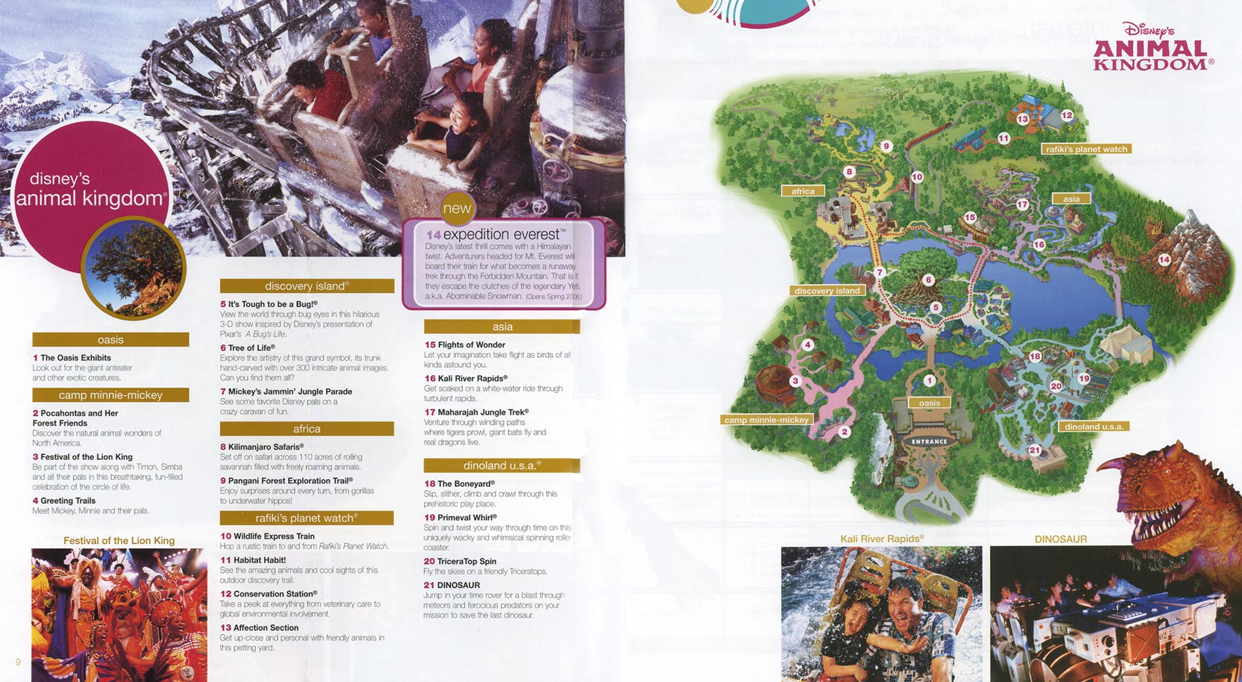 Theme Park Brochures Disney s Animal Kingdom   Theme Park Brochures