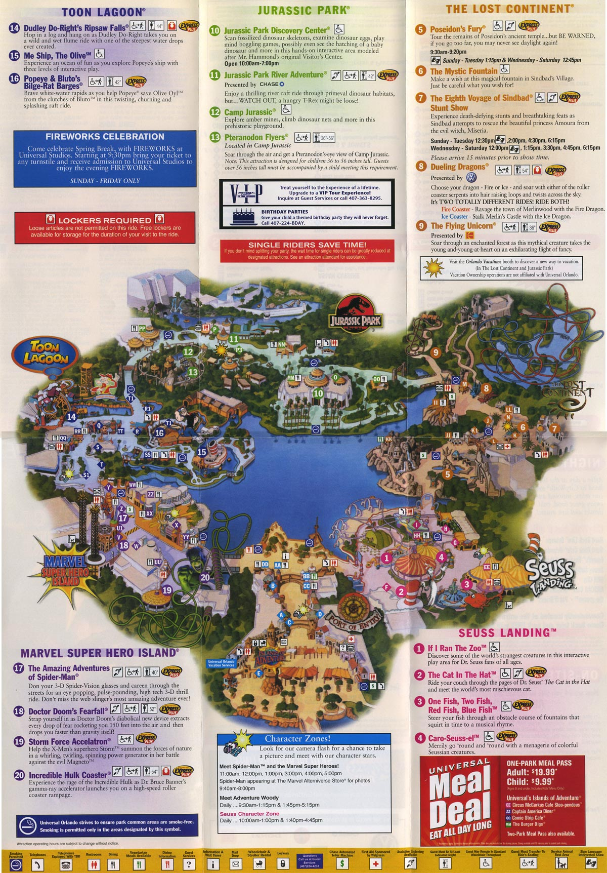 map of adventure island     islands of adventure map 2006
