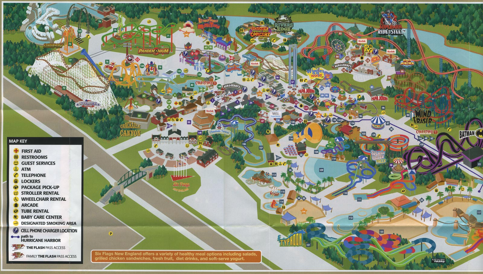 Theme Park Brochures Six Flags New England   Theme Park Brochures