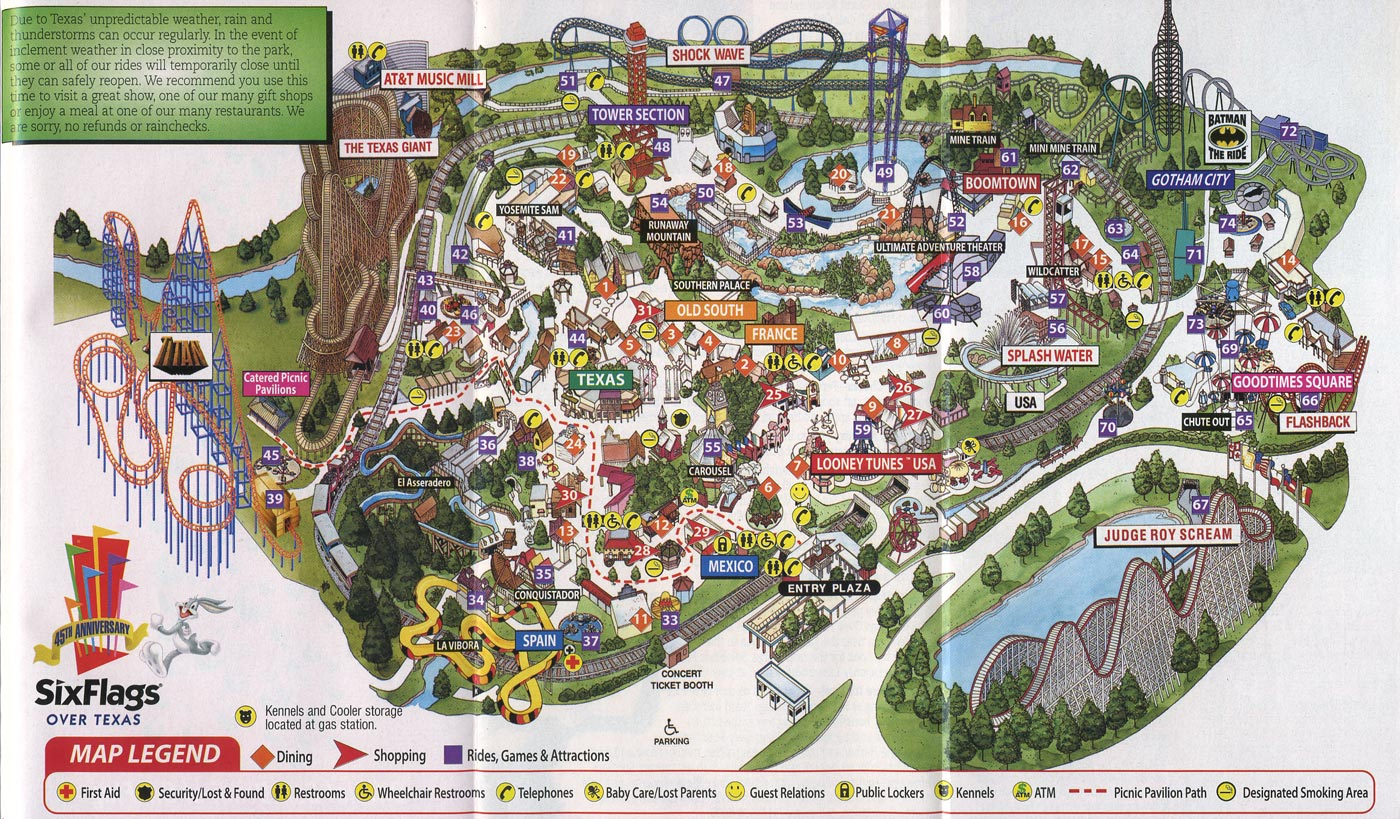 Theme Park Brochures Six Flags Over Texas   Theme Park Brochures