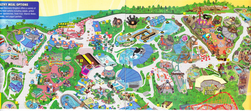 Six Flags Vallejo California Map