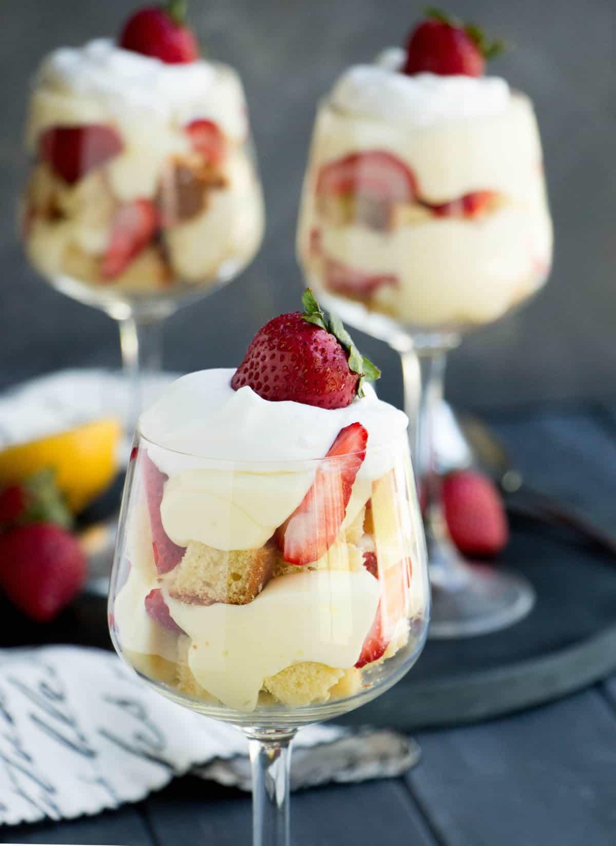 Strawberry Lemon Pound Cake Trifles The Merchant Baker