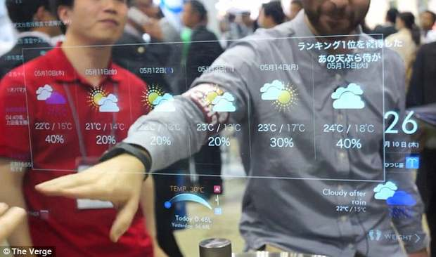 A mirror to tell you news and weather reports soon