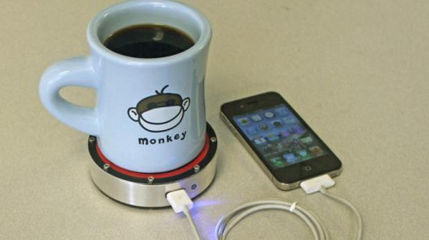 Now charge your devices with hot or cold beverages