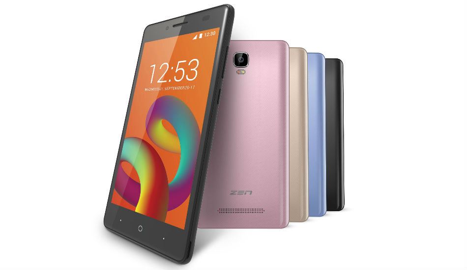 Zen Admire Unity with 5-inch display, Android 7.0 Nougat launched in India at Rs 5099