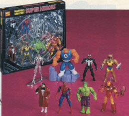1996 Popular boys and girls toys from the Nineties including Tickle     Marvel Action Figure Set From The 1990s