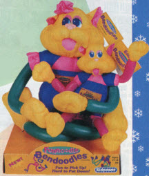 1997 Popular boys and girls toys from the Nineties including Power     Bendoodles Collectibles From The 1990s