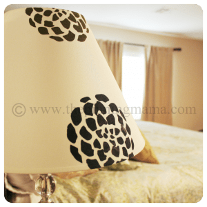 Stenciled Lamp Shade using Silhouette Cameo