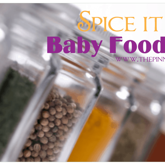 spices for babies, spice up baby food, flavor baby food, baby purees, spices in purees