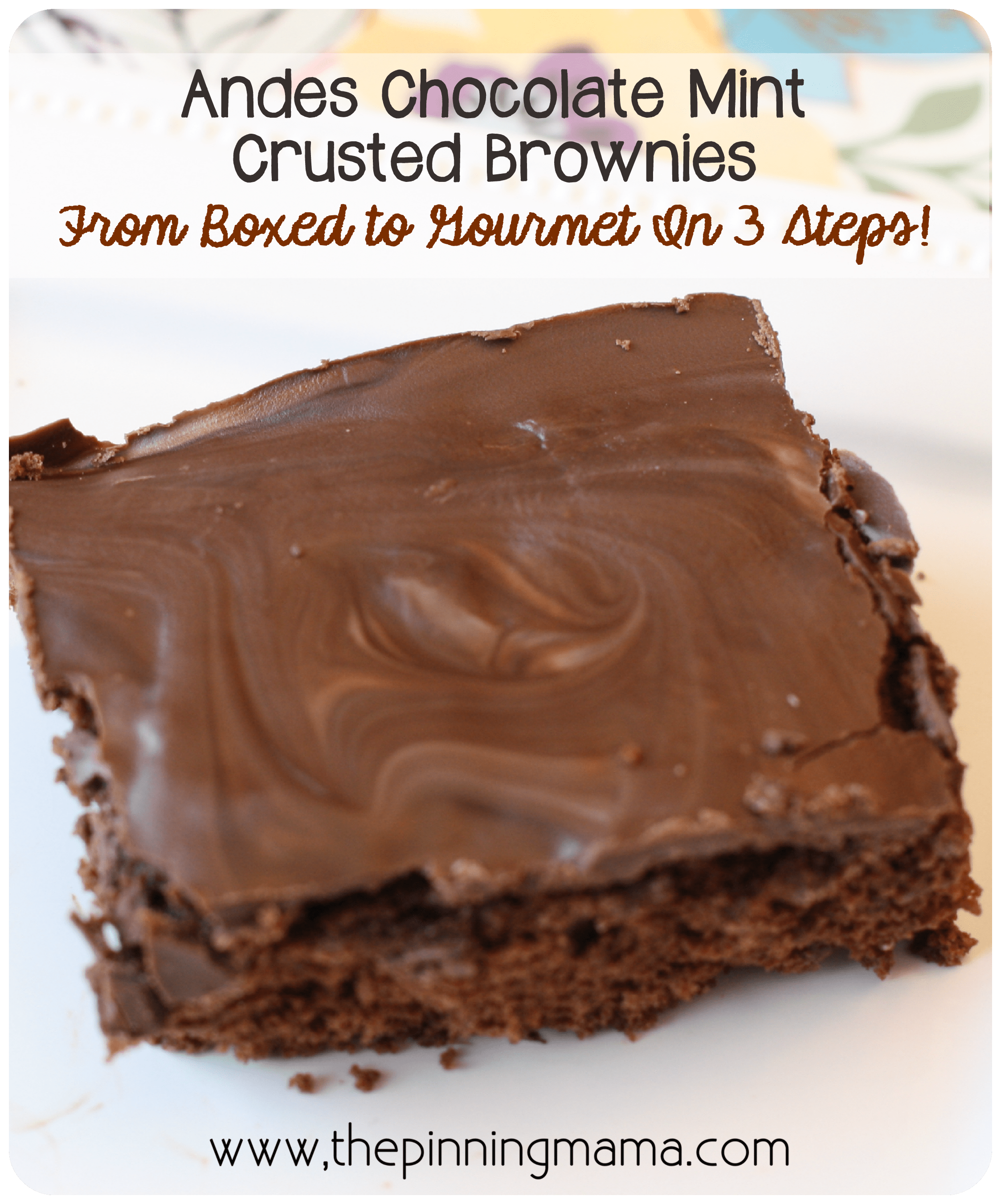 Brownies: From Boxed to Gourmet in 3 Easy Steps or Less! by www.thepinningmama.com