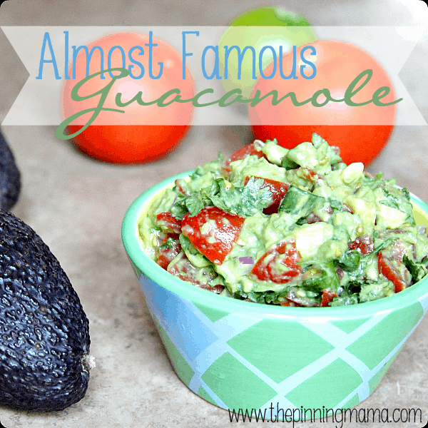 Almost Famous Guacamole by www.thepinningmama.com
