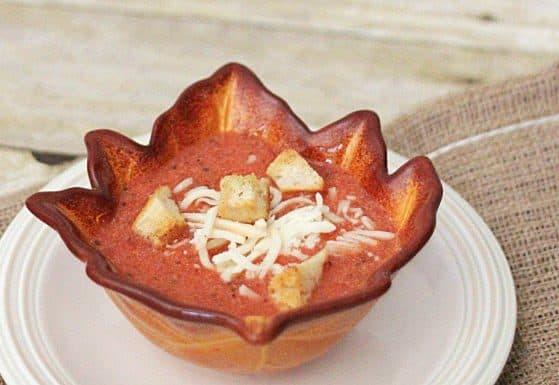 Easy Creamy Tomato Basil soup 1