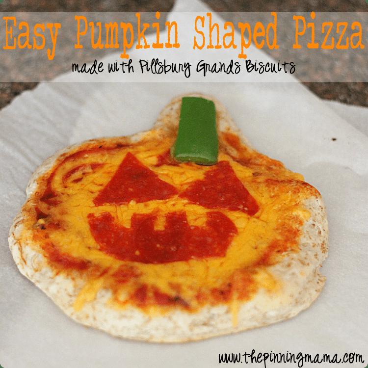 Easy Weeknight Dinner: Pillsbury Pumpkin Shaped Pizza -click here for recipe