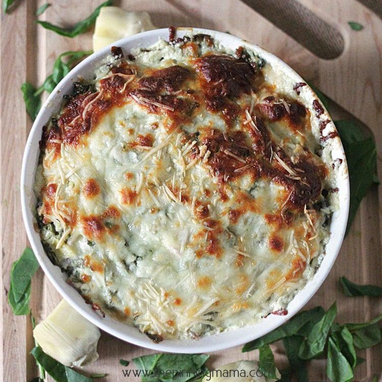 Best Ever Hot Spinach Artichoke Dip Recipe