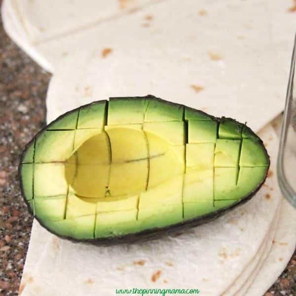 Easy Diced Avocado