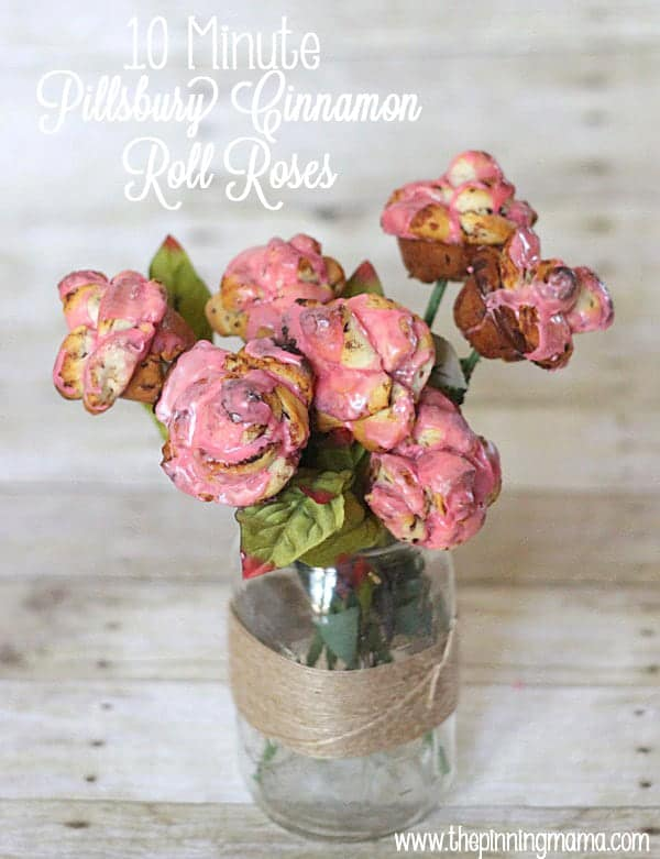 Cinnamon Roll Roses made from @pillsburyideas Cinnamon Rolls! They only take 10 minutes to make!
