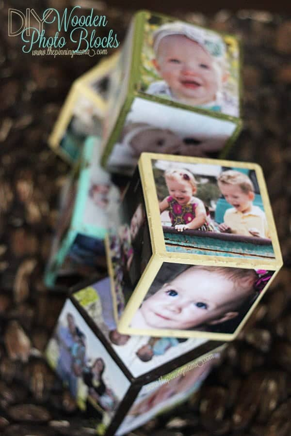 These DIY photo blocks make adorable decor and the kids can play with them all day long! Such an easy & practical craft!