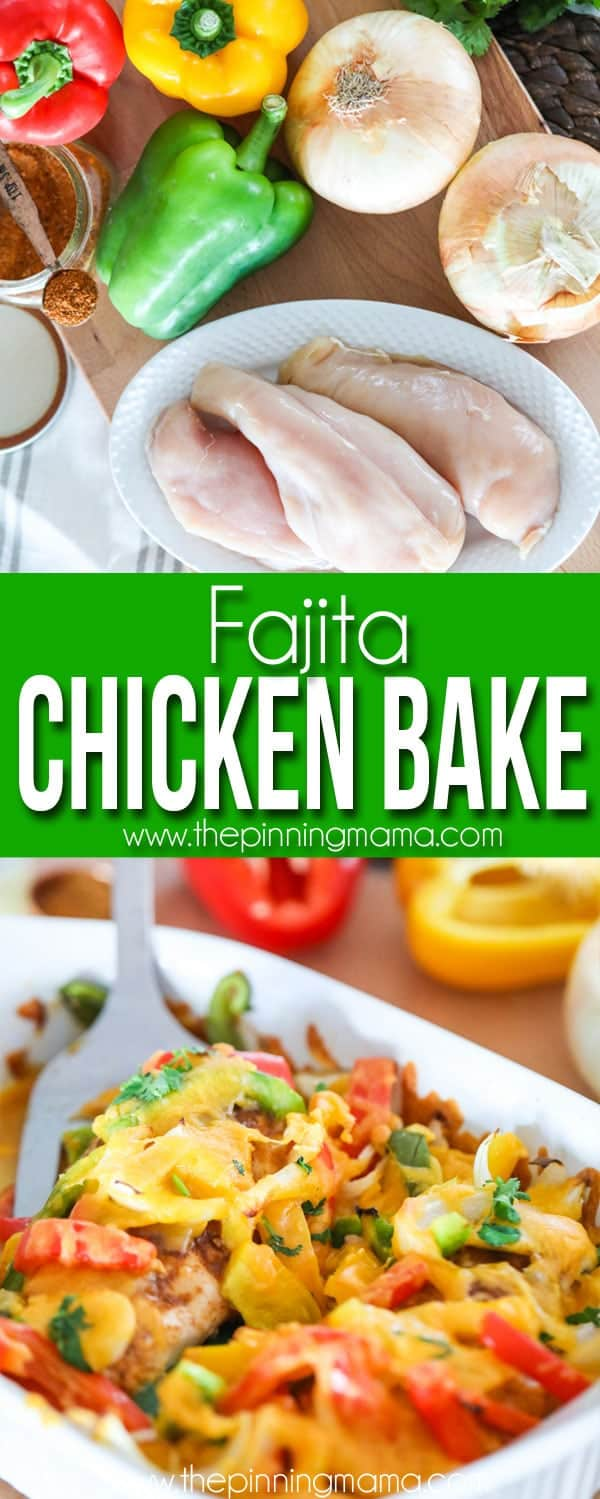 Chicken Fajitas with Ingredients and served
