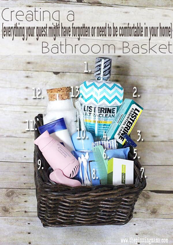 Creating The Perfect Guest Basket For, What To Put In Bathroom Baskets