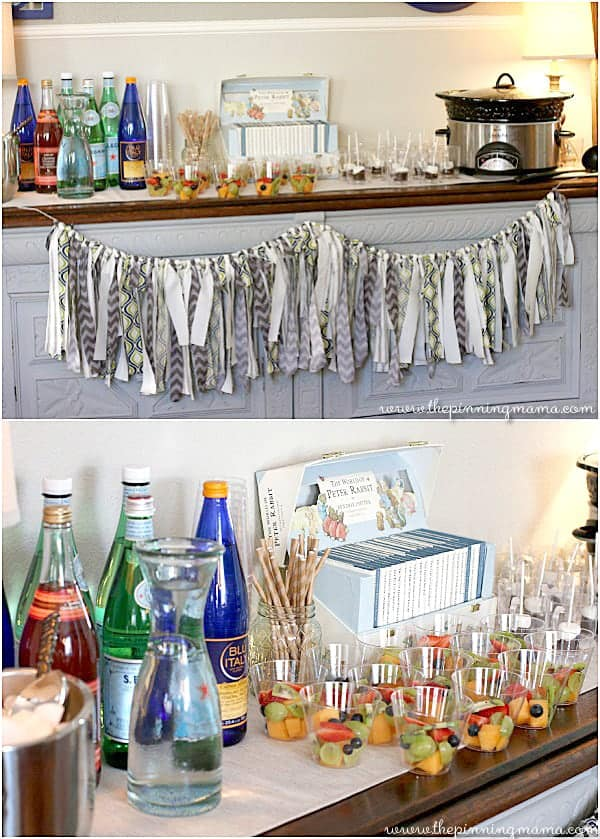 Love the handmade details in this baby shower! Perfection!