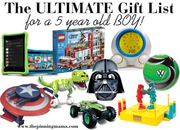 The BEST gift ideas I have seen for a 5 year old boy. This was put together by a mom of boys!