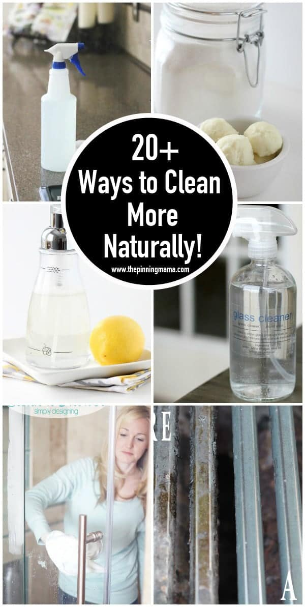 20+ ways to get rid of chemicals in your home and clean more naturally!