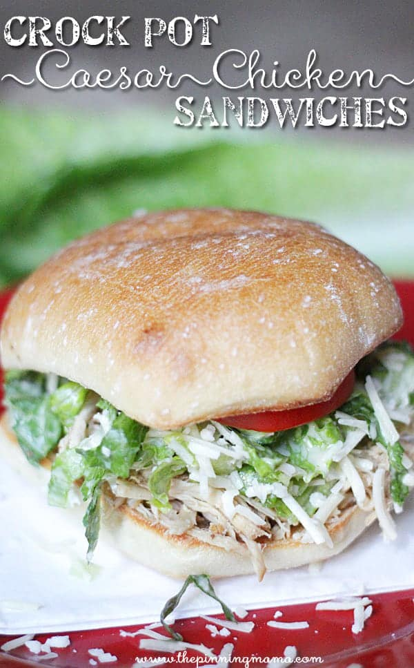 Chicken Caesar Sandwiches - Love this healthy dinner idea! Recipe via thepinningmama.com