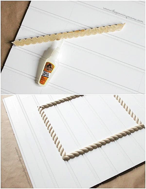 Just a few steps to make a bead board picture frame
