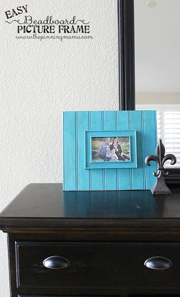 Gorgeous Picture Frame made from an old frame and some beadboard!