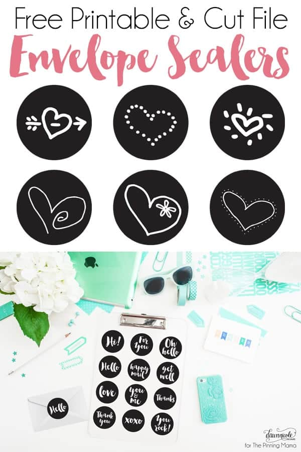 Add a pretty touch to your snail mail with this Envelope Sealers Free Printable + Cut File. | thepinningmama.com