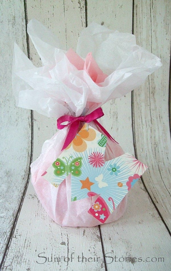 M initial gift tag