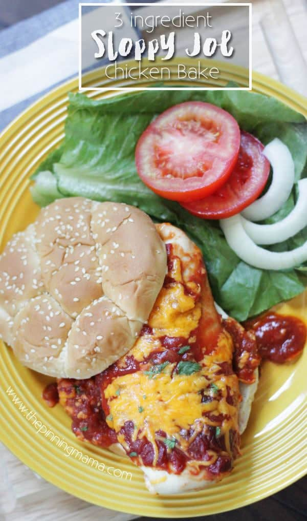 Easy + Delicious = Perfect weeknight dinner recipe. One Dish Sloppy Joe Chicken Bake on www.thepinningmama.com