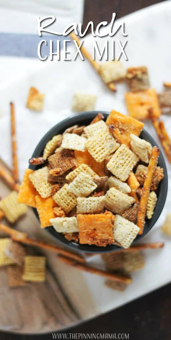 I love ranch everything!  This cheesy ranch chex mix recipe is going to be my go to this holiday season!