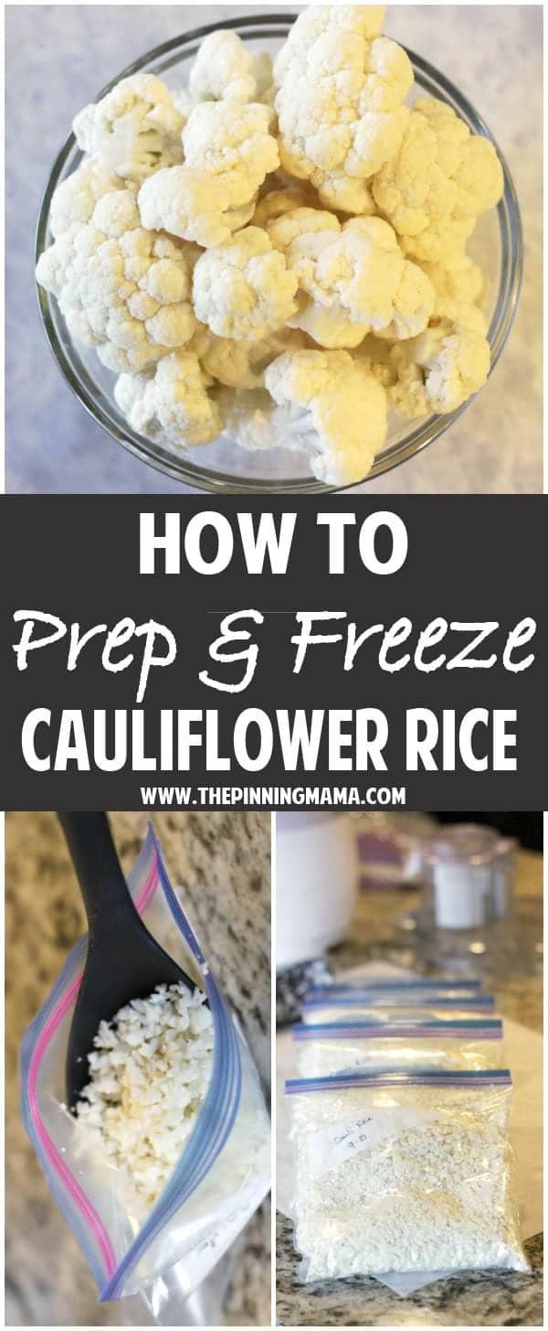 How to Prep & Freeze Cauliflower Rice