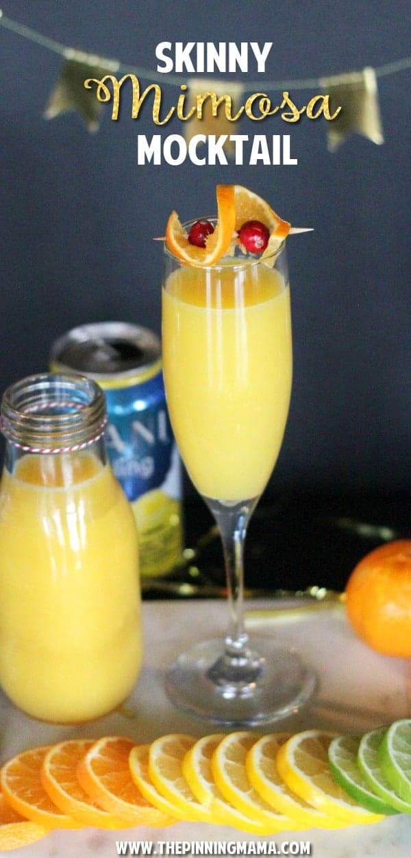 This drink is a lighter version of the classic brunch cocktail, the Mimosa!  With less calories and no alcohol it is a lighter and healthier option that everyone can enjoy and it tastes amazing!!