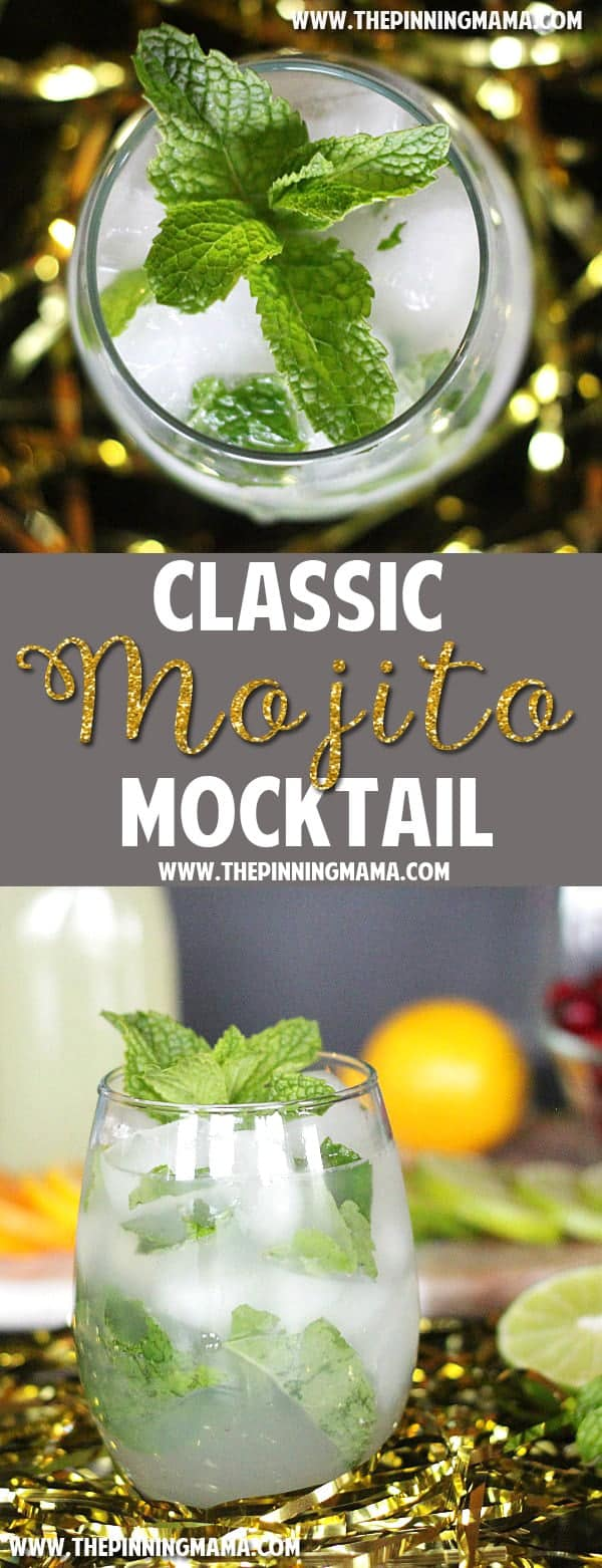 Virgin Mojito recipe - perfect for entertaining so you have a non-alcoholic option everyone can enjoy!