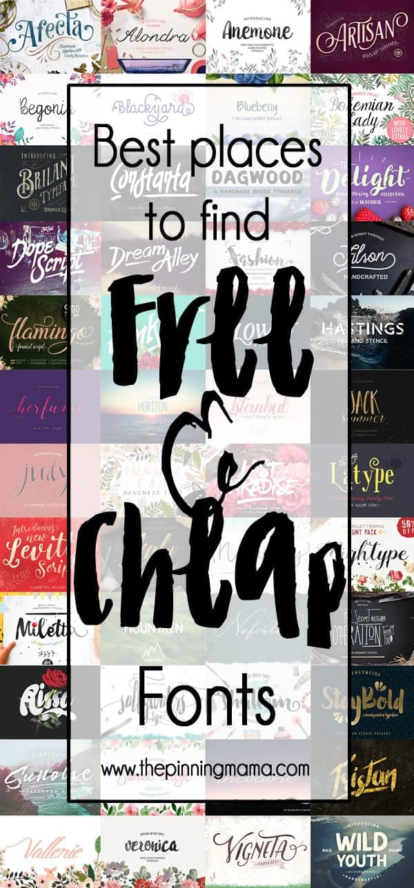 My favorite resources for free and cheap fonts! Great list and tips! Saving to check these regularly for new freebies!