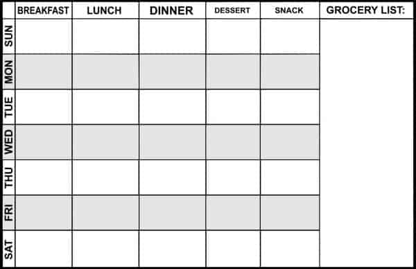 Planners to make meal planning easy: Magnetic meal planner