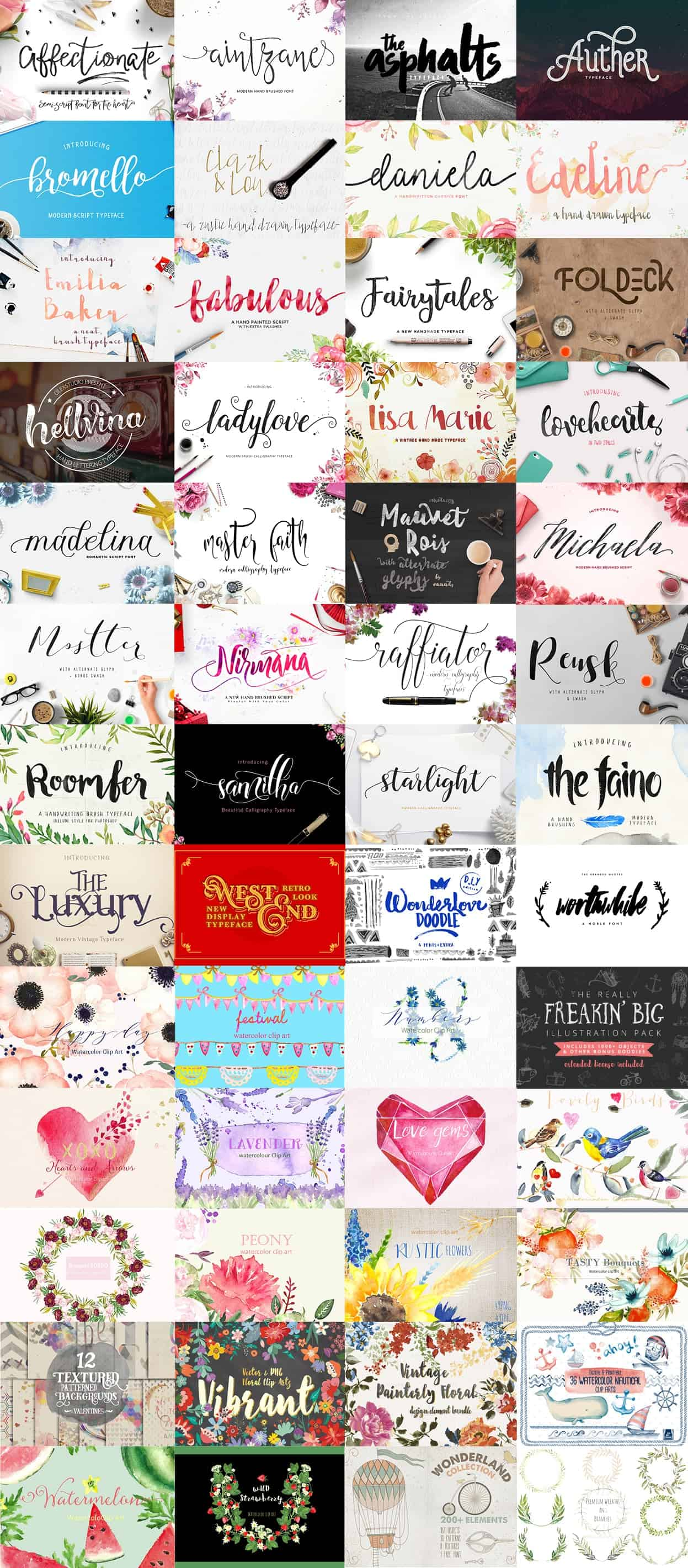 HUGE bundle of PRO grade fonts for 92% off!  I haven't seen this great of a deal on fonts anywhere!