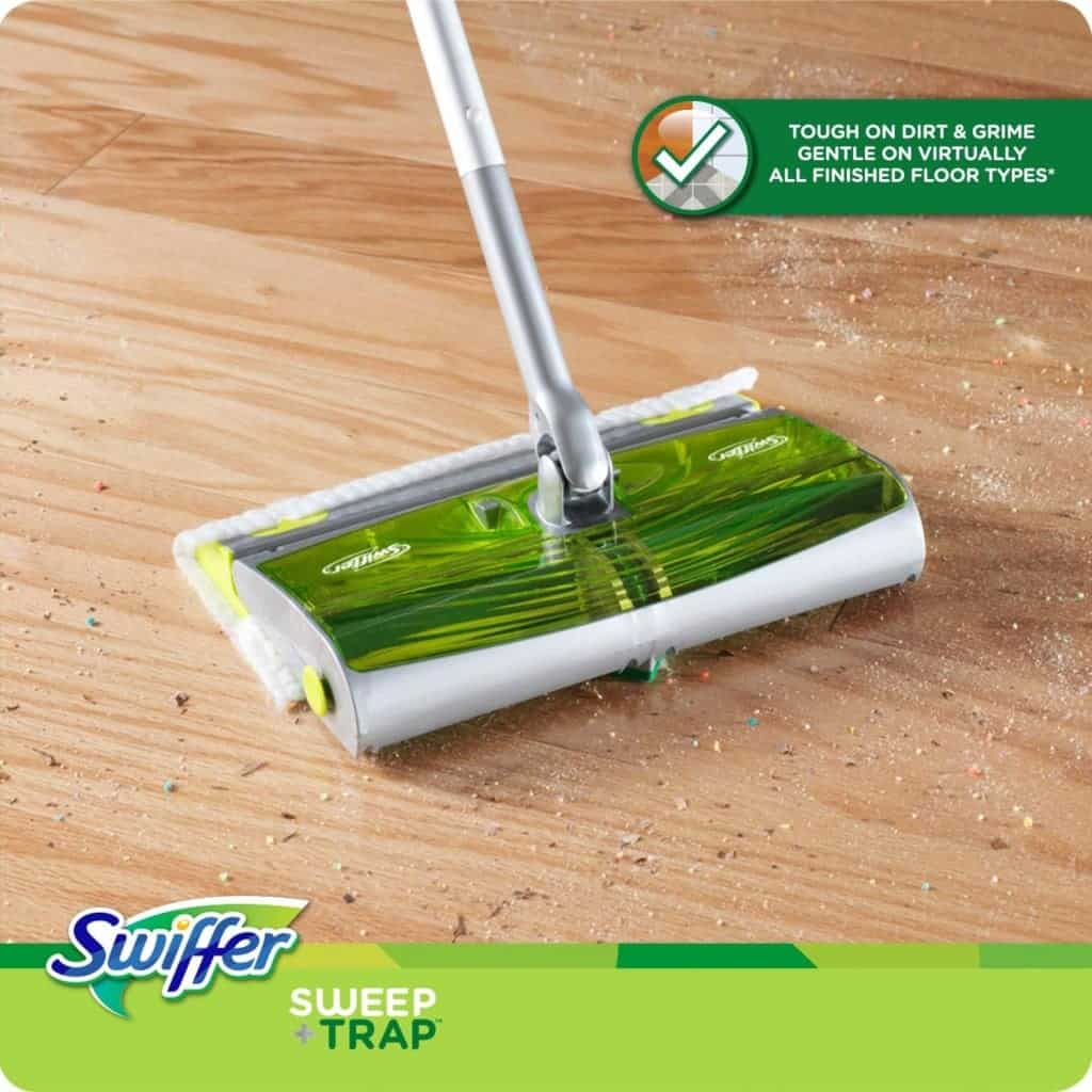 10+ Simple Things to Help Kids Clean: Swiffer Sweep and Trap - www.thepinningmama.com