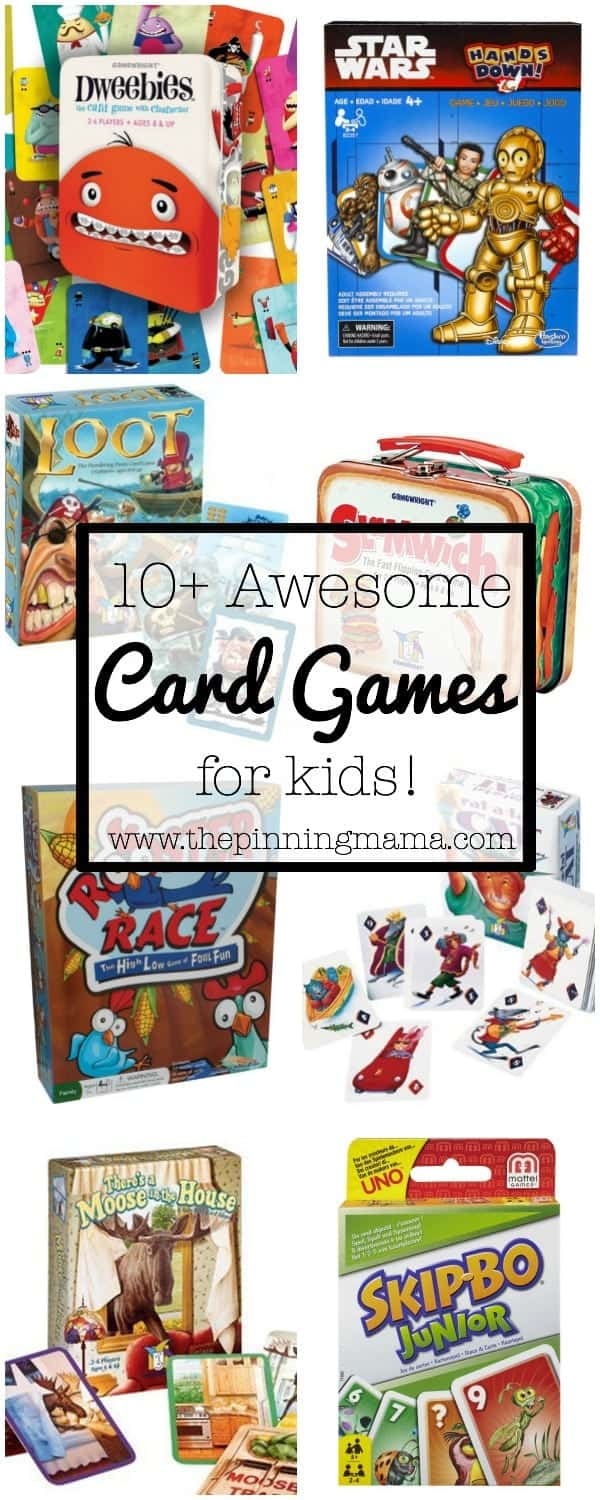 10+ Awesome Card Games for Kids | www.thepinningmama.com