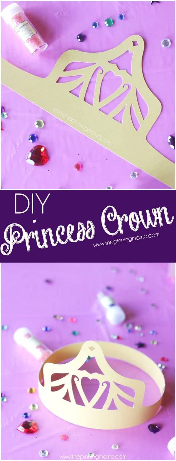 Free Wearable Kids Princess Crown Cut file for Silhouette - File formats included SVG, DXF, PDF, .Studio3