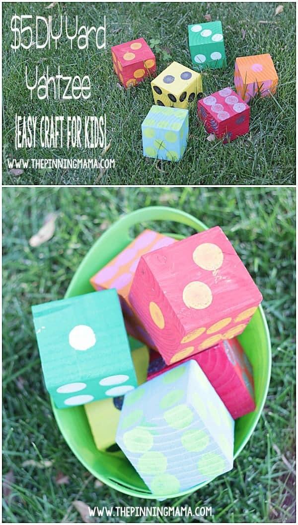 10+ Outdoor Boredom Busting Activities for Kids: DIY Yard Yahtzee   www.thepinningmama.com