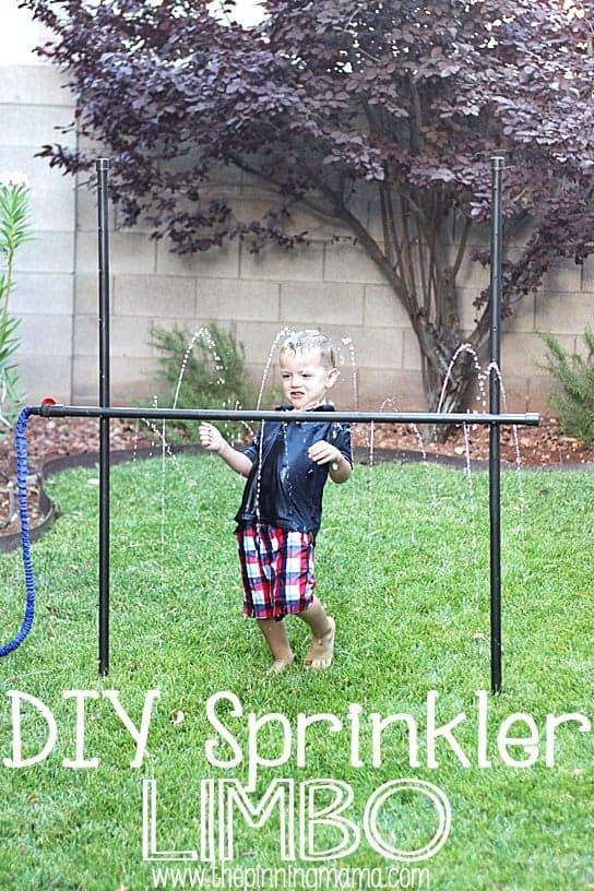 10+ Outdoor Boredom Busting Activities for Kids: DIY Sprinker Limbo | www.thepinningmama.com