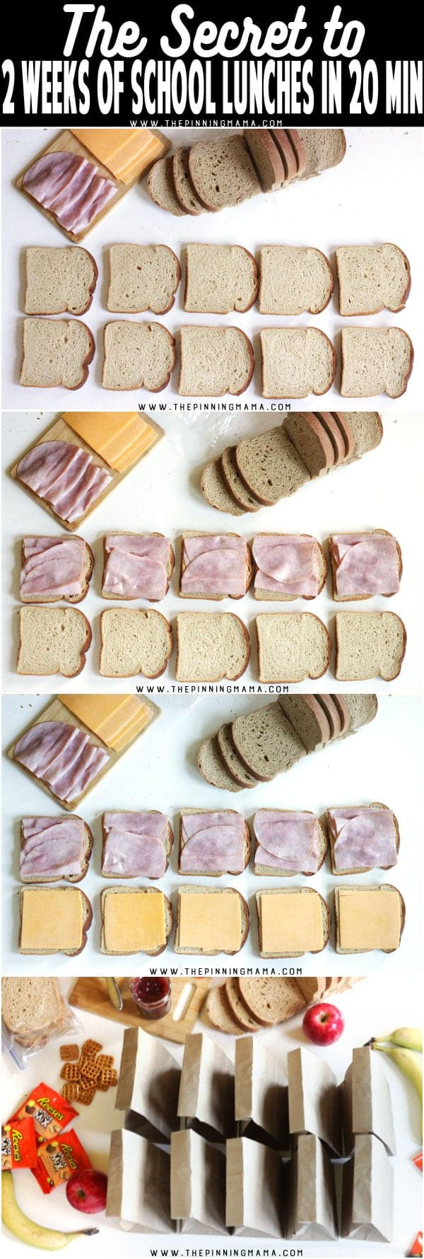 How to make freezer sandwiches - Great for prepping a weeks worth of lunches at a time to save time and stress in the mornings! I can do this for school and work lunches!